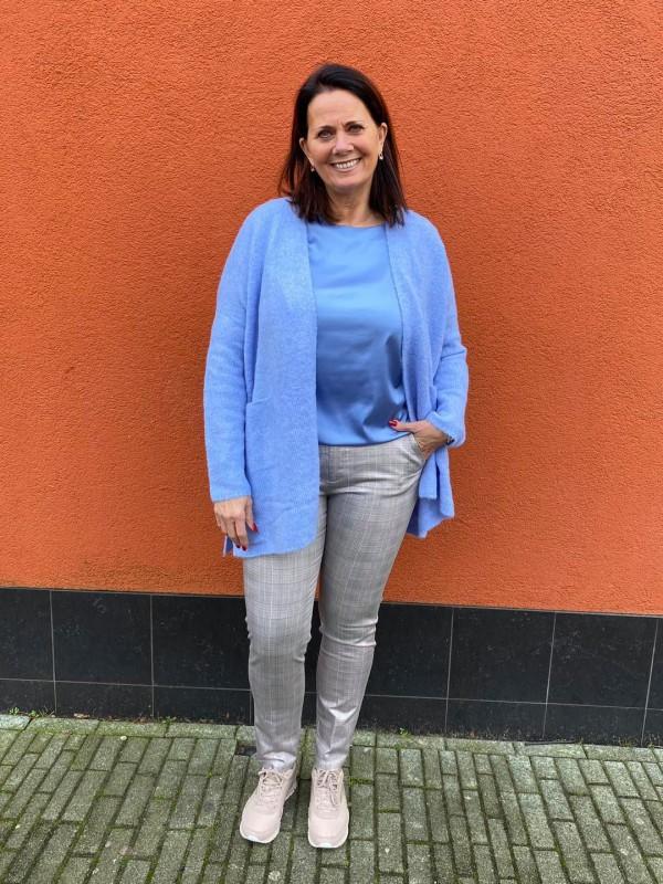 Blue vest blouse