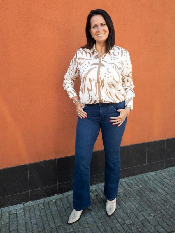 Mos Mosh flared jeans blouse laarzen Aaiko aw20