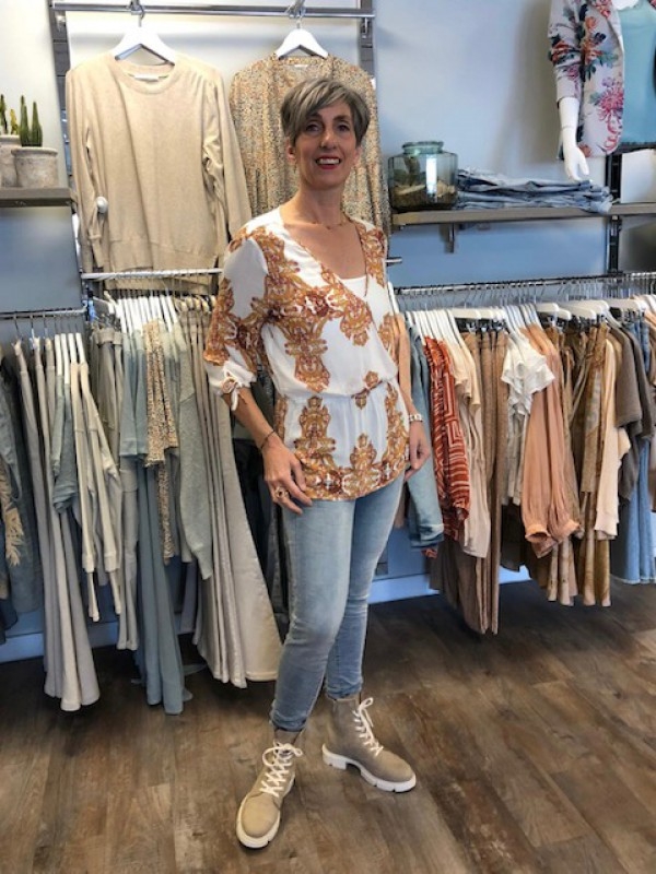 Ss21 blouse rose jeans