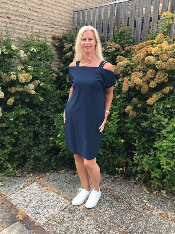 Jane Lushka jurk blauw SS2020