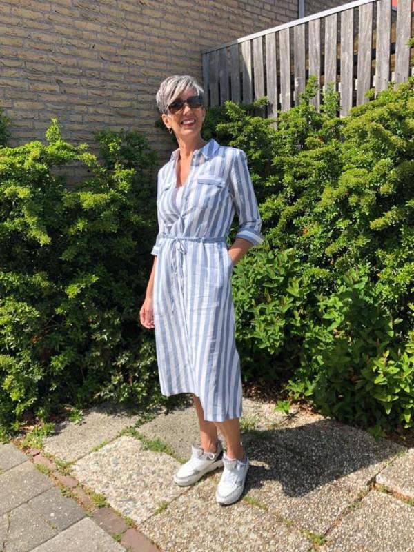 Opus jurk blauw lente 2020