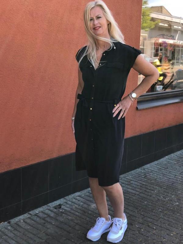 Summum zwarte jurk SS2020