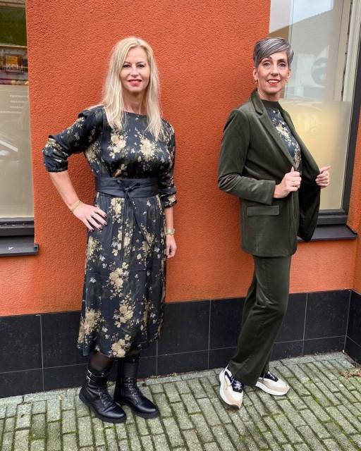 Groen jurk broekpak