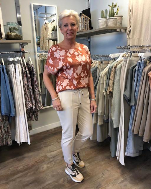 Yaya blouse broek wit